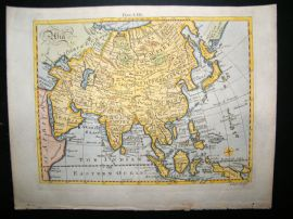 Asia & East Indies C1790 Antique Hand Coloured Map by Bell